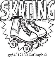 Roller Skating Clip Art.