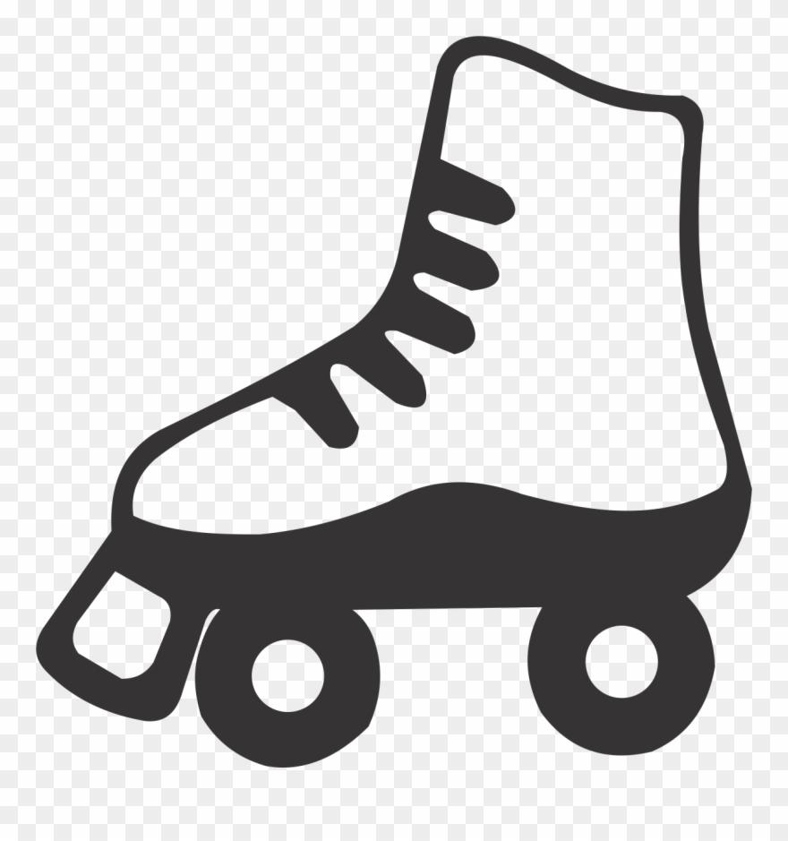 Purple Clipart Roller Skate.