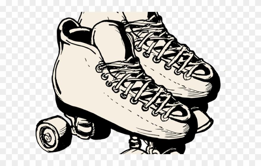 Roller Skates Clipart.