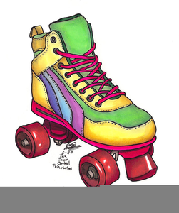 Scrapbooking Clipart Roller Skates.