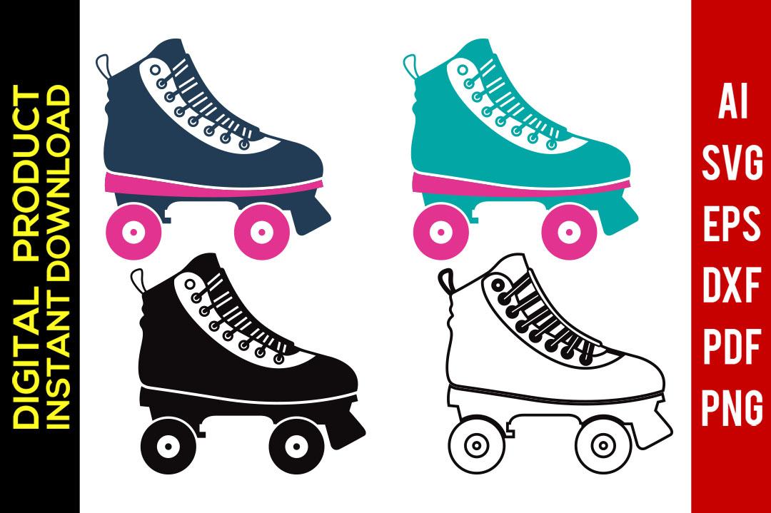 Roller Skates svg.