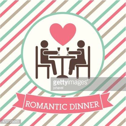 Romantic Dinner premium clipart.