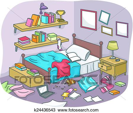 Messy Room Clipart.