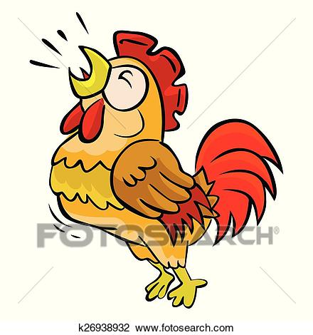 Rooster crow Clipart.