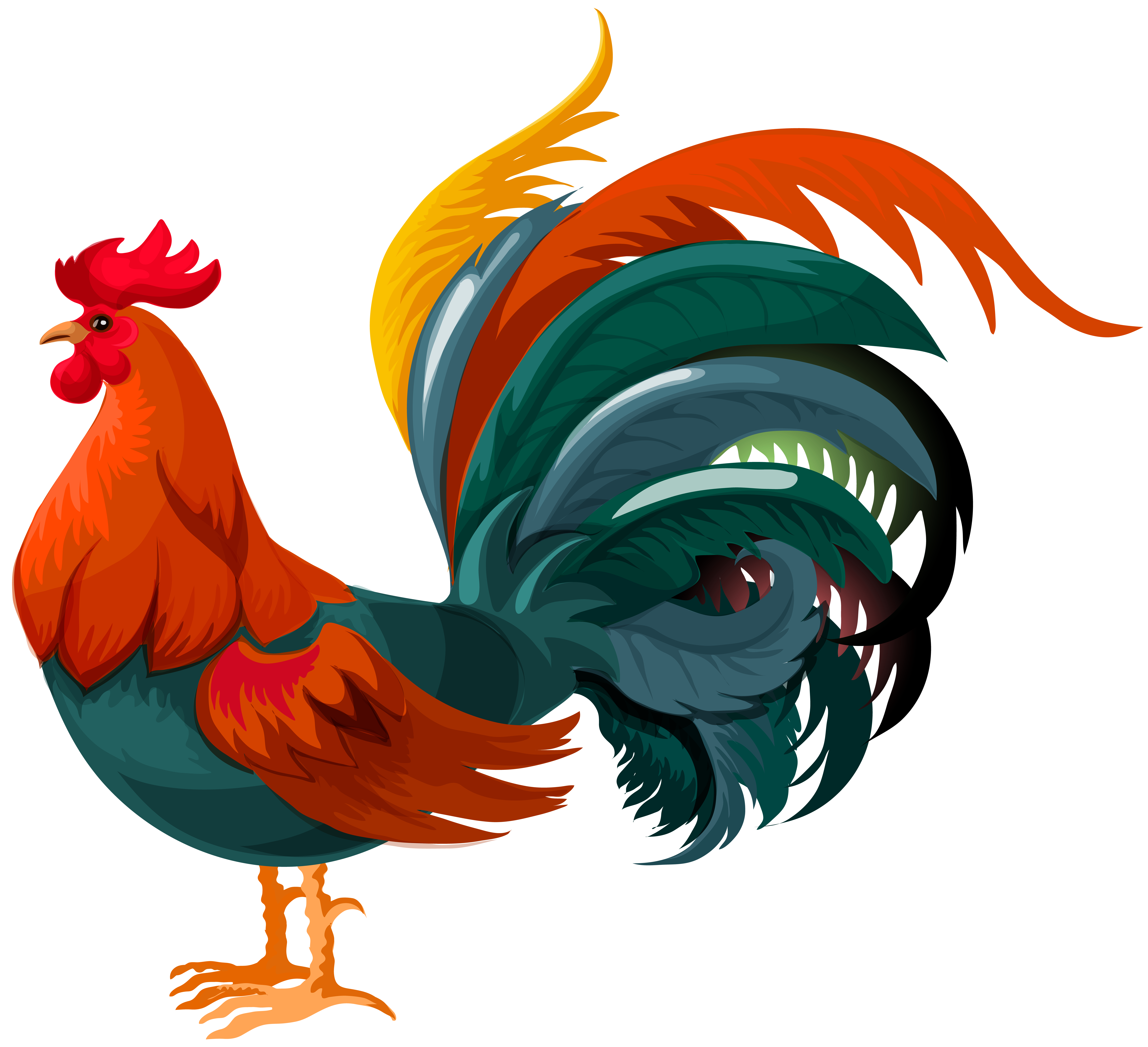 78 Free Rooster Clip Art.