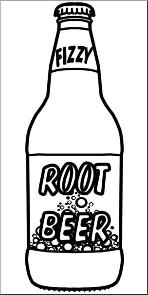 Clip Art: Root Beer B&W I abcteach.com.