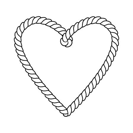 3,844 Rope Heart Stock Vector Illustration And Royalty Free Rope.