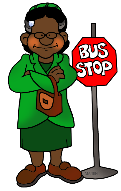 Black History Month Clip Art by Phillip Martin, Rosa Parks.