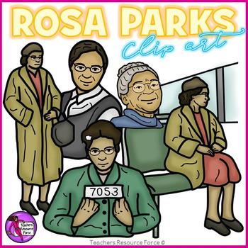 Rosa Parks clip art.