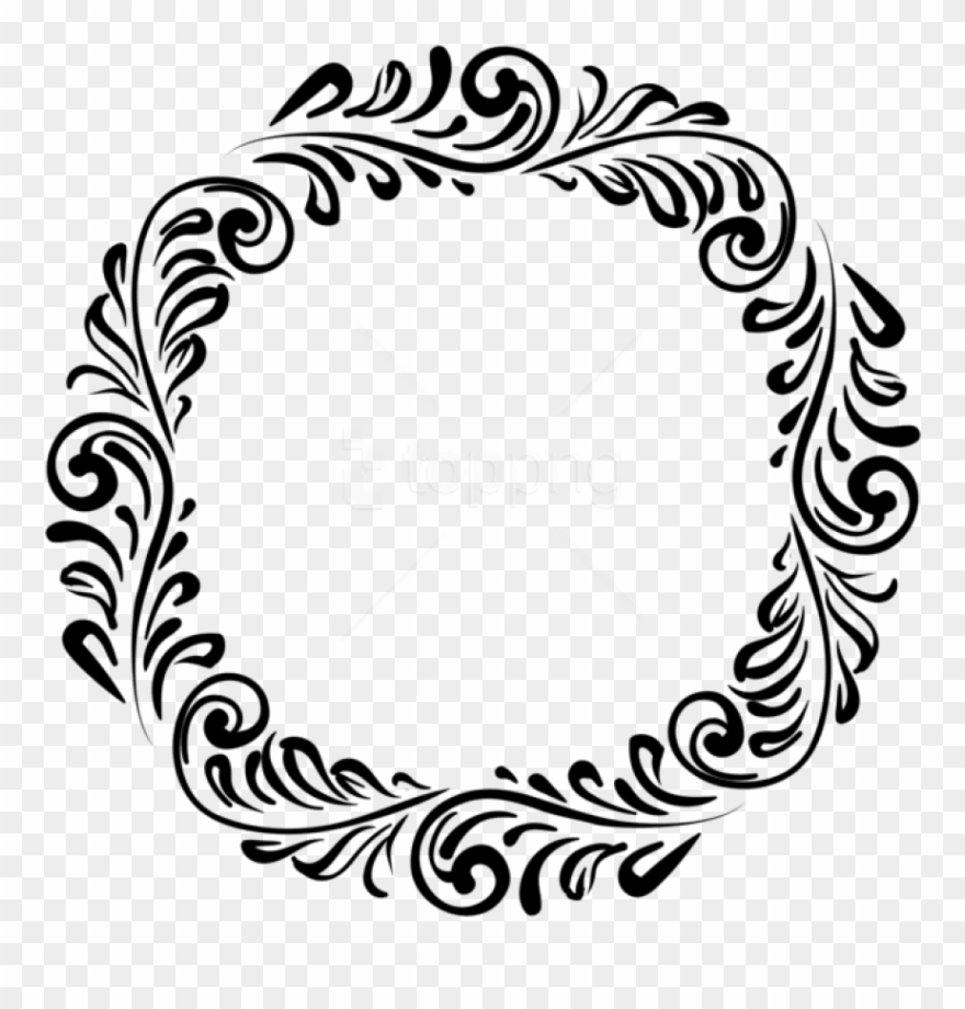 Free Png Download Round Black Border Frame Clipart.