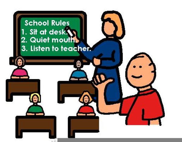 Clipart School Rules.