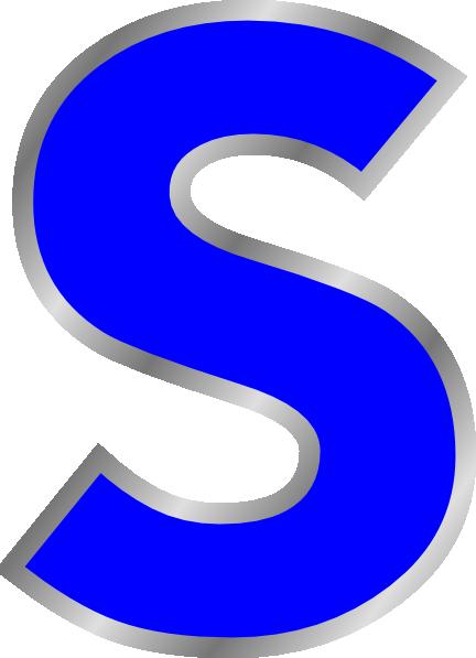 Blue S Clip Art at Clker.com.