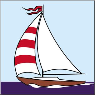 Clip Art: Sailboat Color I abcteach.com.