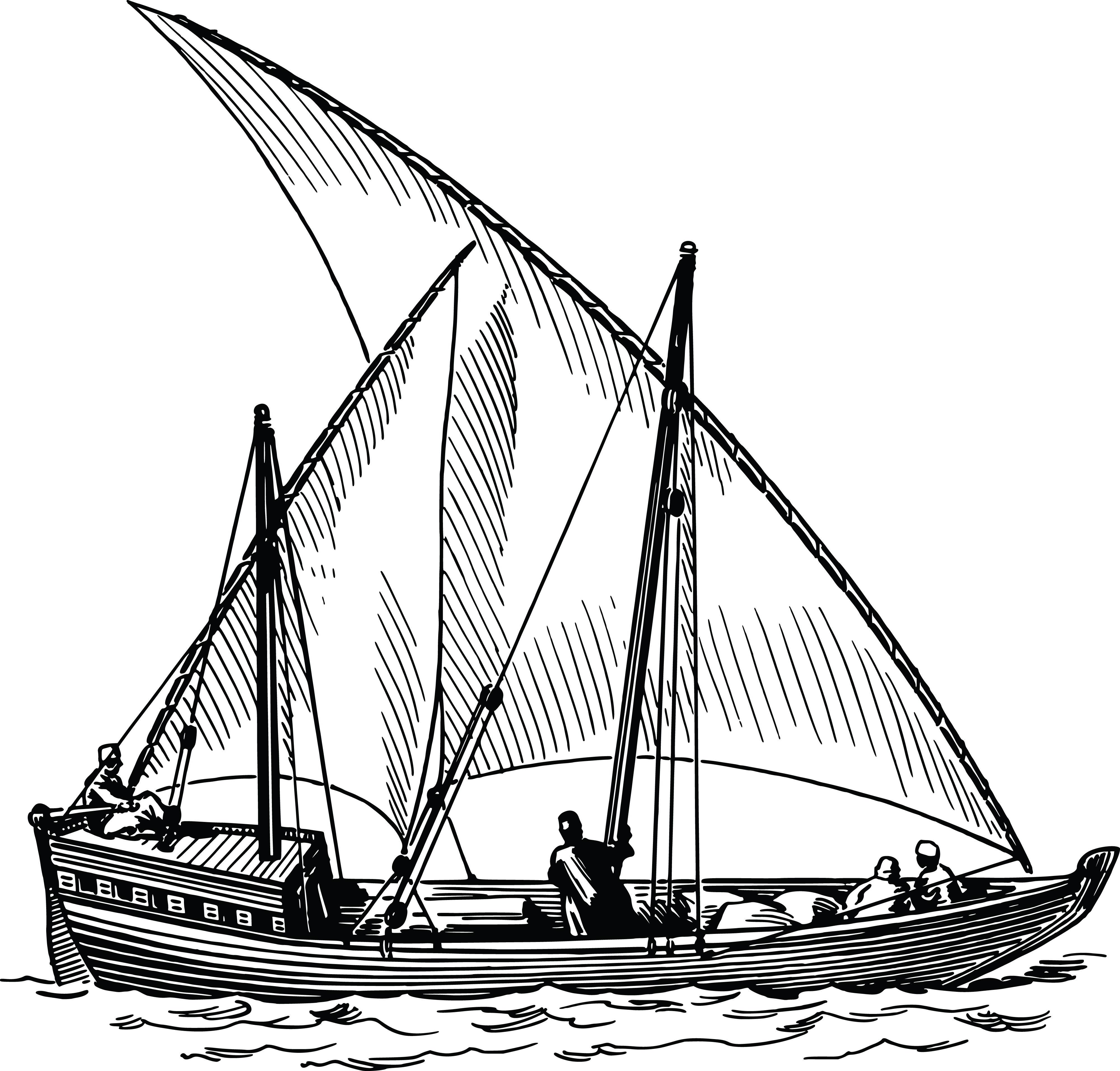 Free Clipart Of a sailing ship.
