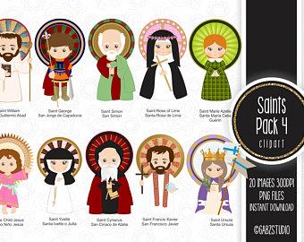 Clipart saints.