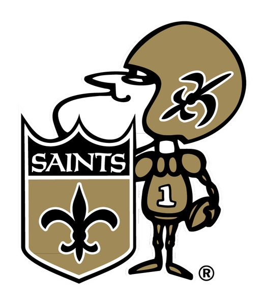 Saints Football Helmet Clipart.