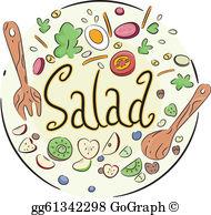 Salad Bowl Clip Art.