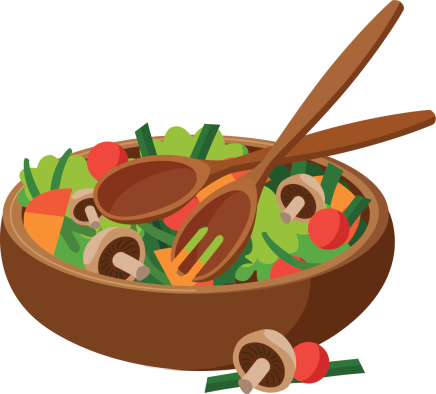 Collection of Salad clipart.