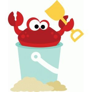 Crab in sand pail.