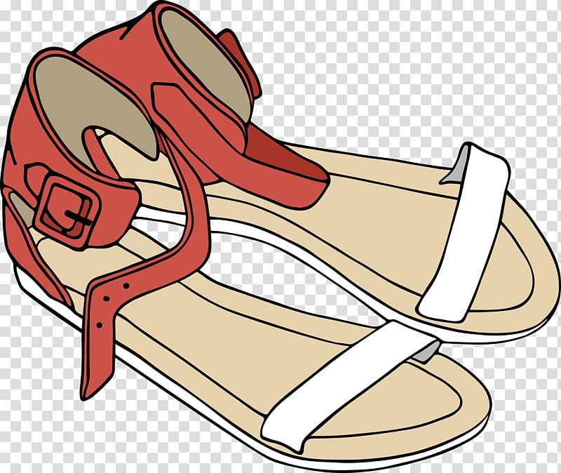 Sandal Euclidean , sandals transparent background PNG clipart.