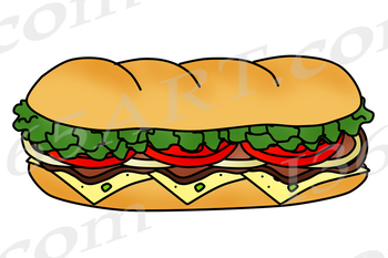 Build A Sub Sandwich Clipart Bundle.