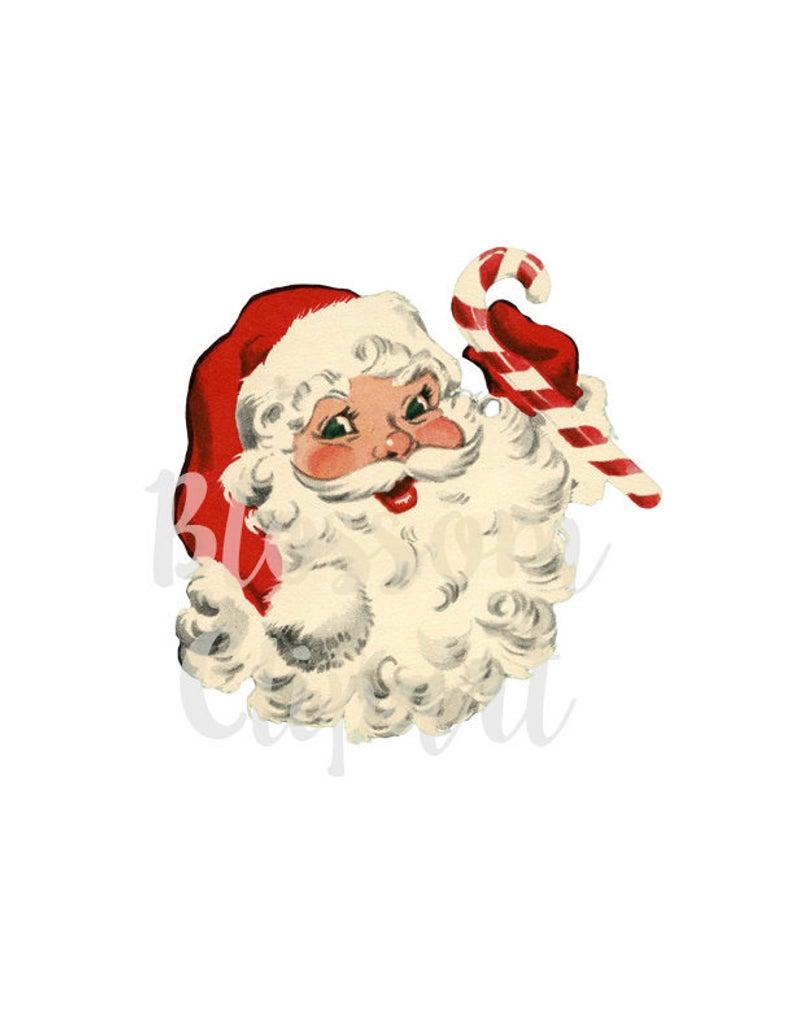 Santa Vintage Christmas Clip Art Santa Vintage Graphic Christmas Clip Art  for Cards, Crafts, scrapbook, collage, prints.