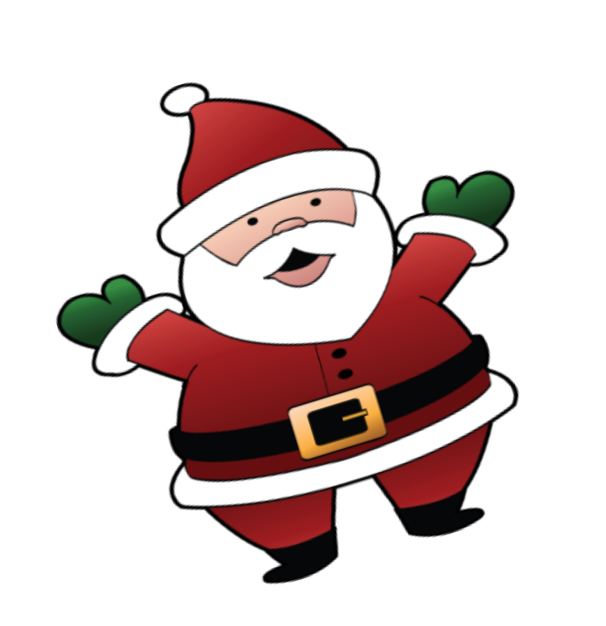 Santa christmas clip art.