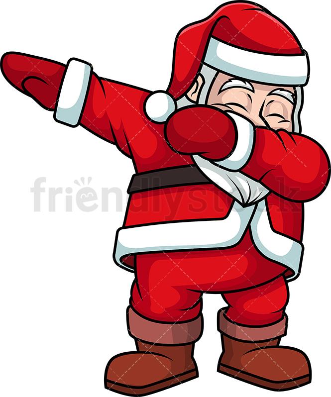 Dabbing Santa Claus.