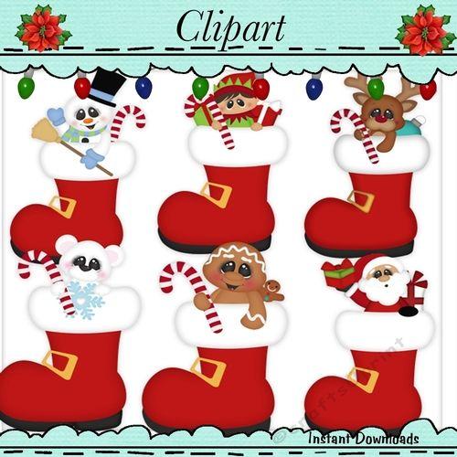 Santa Boots Peepers Clip Art.