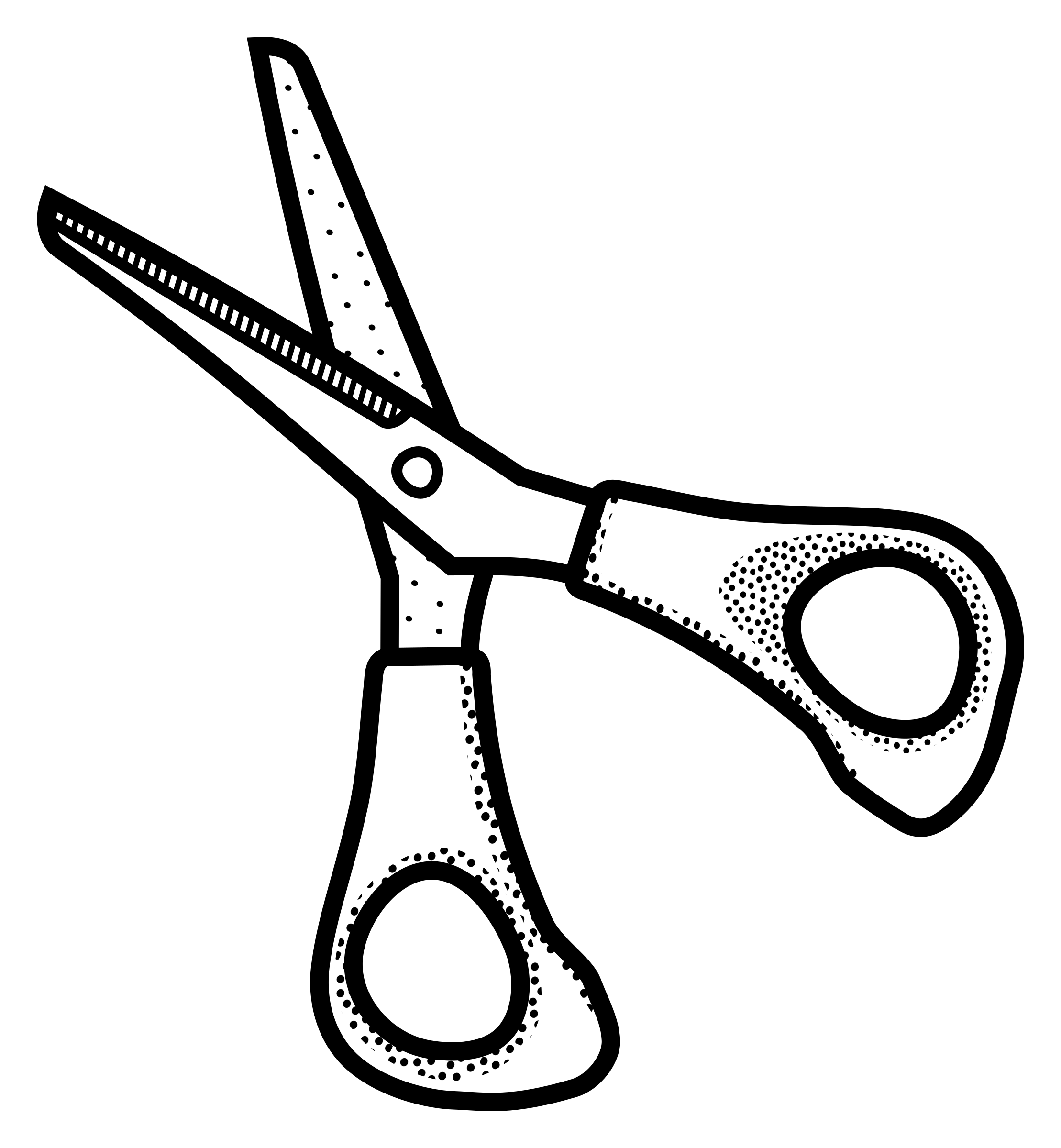 Clipart scissors lineart.