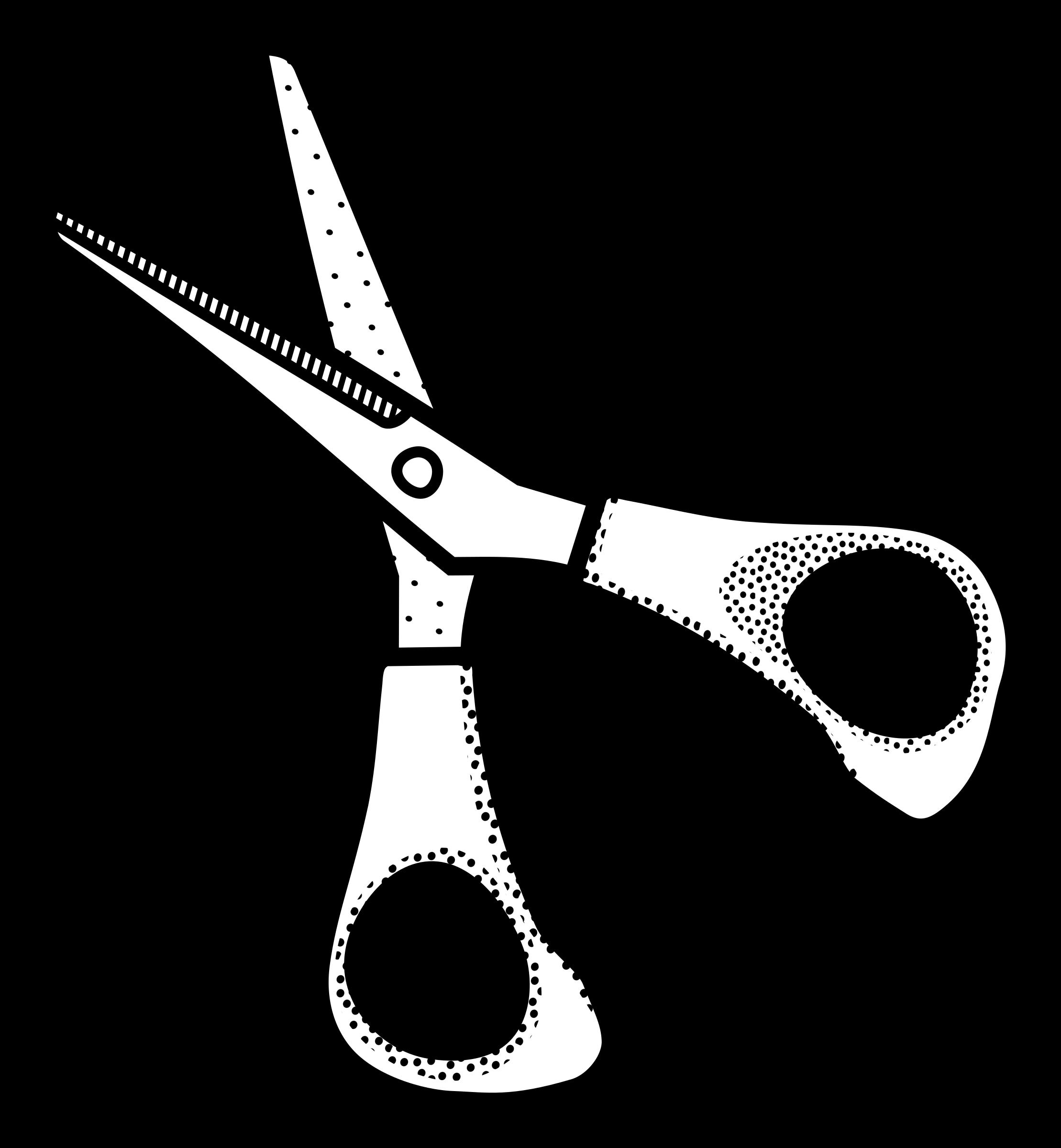 Clipart scissors lineart.
