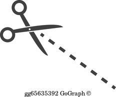 Scissors Dotted Line Clip Art.