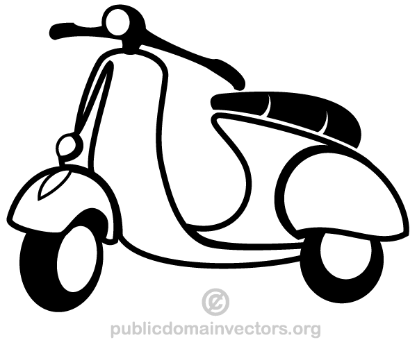 Vector Scooter Clip Art.