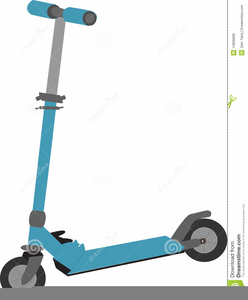 Child On Scooter Clipart.