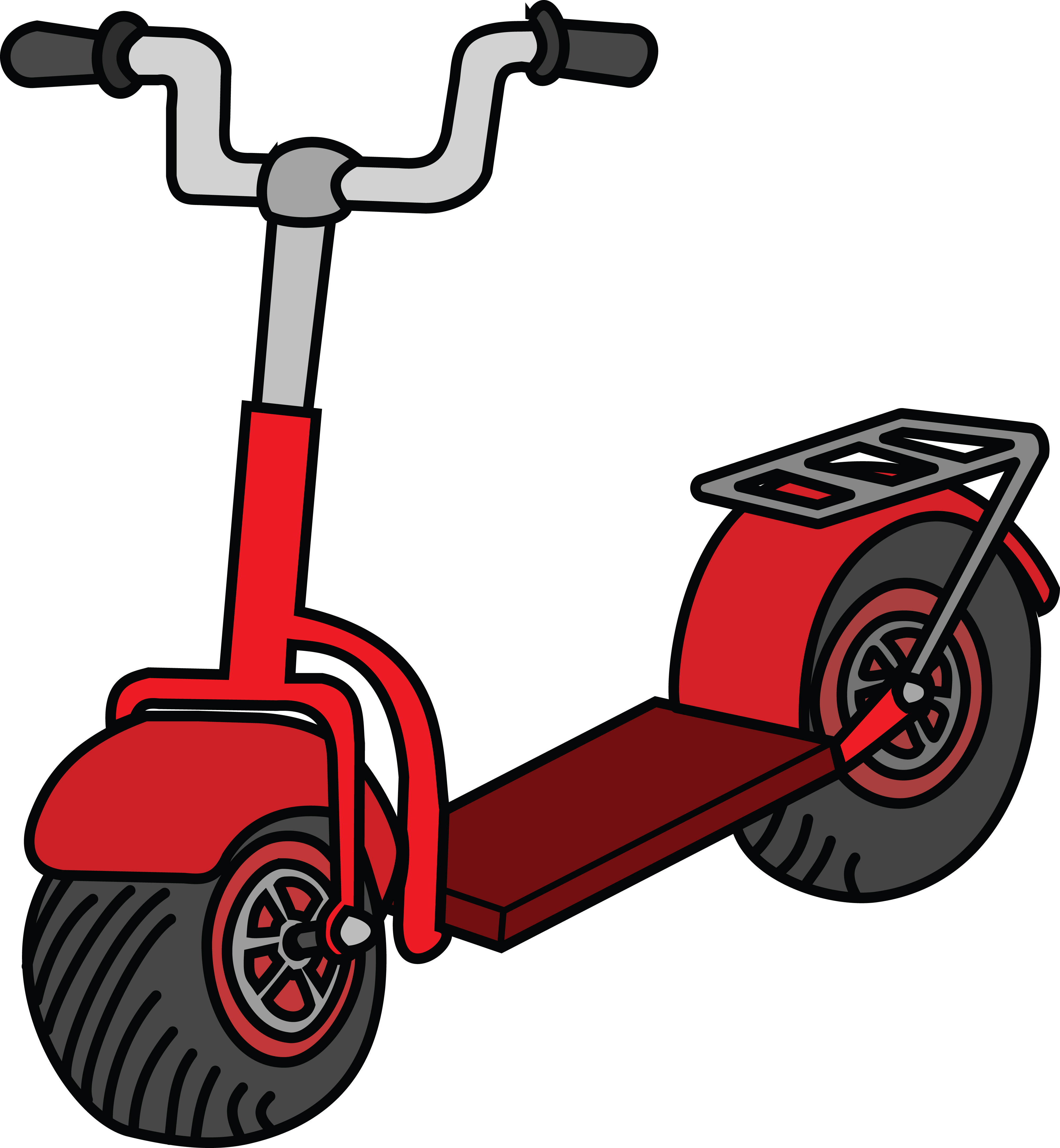 Free Clipart Of A scooter.