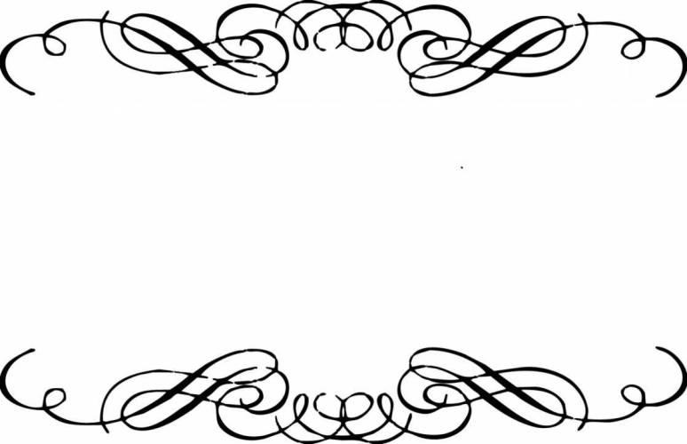 Simple Scroll Design Clip Art.