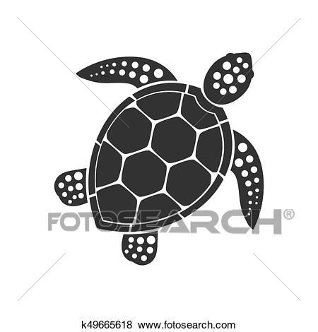 Sea turtle icon Clip Art.