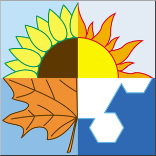 Clip Art: Illustration: Seasons Color I abcteach.com.