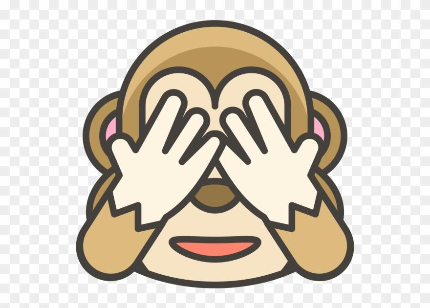 See No Evil Monkey Emoji Clipart (#2418665).