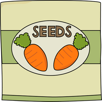 Carrot Seed Packet Clip Art.