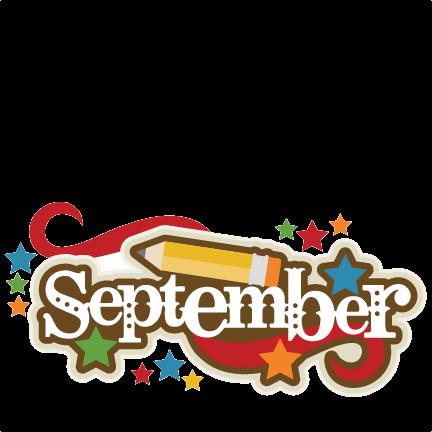 September Clipart PNG Transparent.