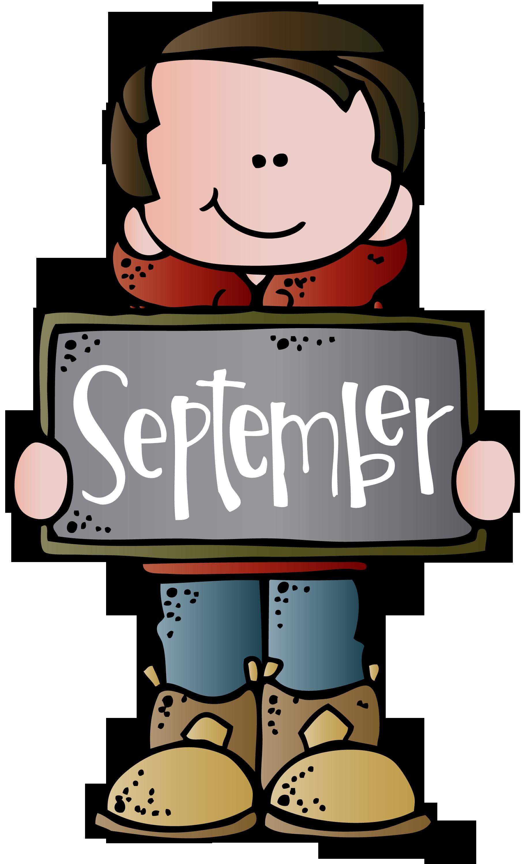 September Calendar Clipart.