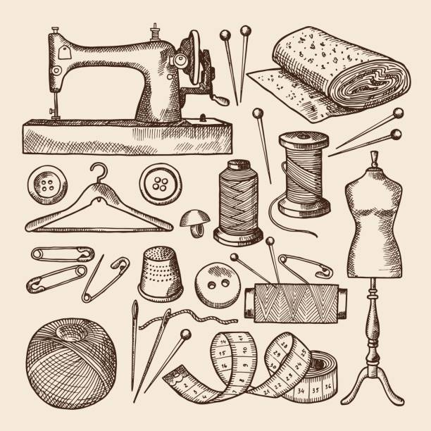 Best Sewing Machine Illustrations, Royalty.