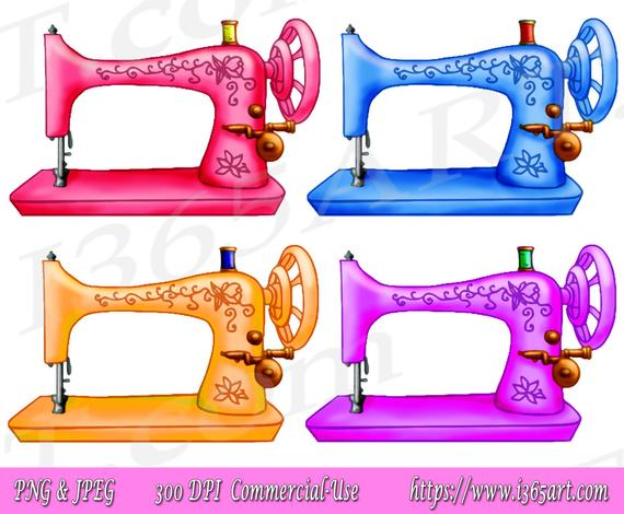 50% OFF Sewing Machine Clipart, Sewing Machine Clip art, Vintage, Sewing  Clipart, Digital Stamp, Scrapbooking, invitations, PNG, Commercial.