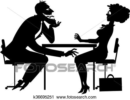 Sexual harassment silhouette Clipart.