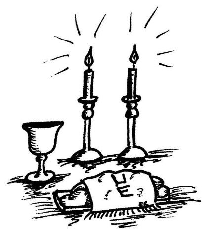 Gallery For > Shabbat Table Clipart.