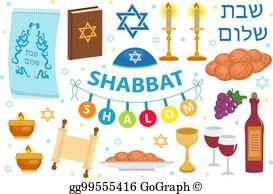 Shabbat Clip Art.