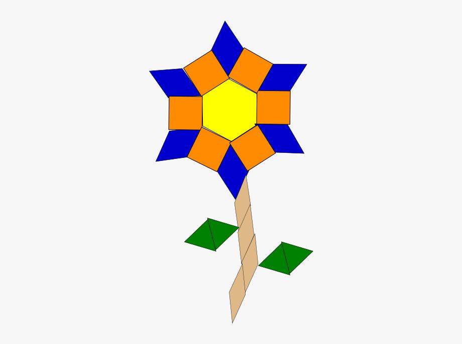 Flower Blossom Geometric Shapes Clipart.
