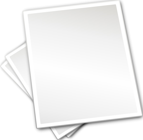 Plain Printing Paper Sheets clip art Free vector in Open office.