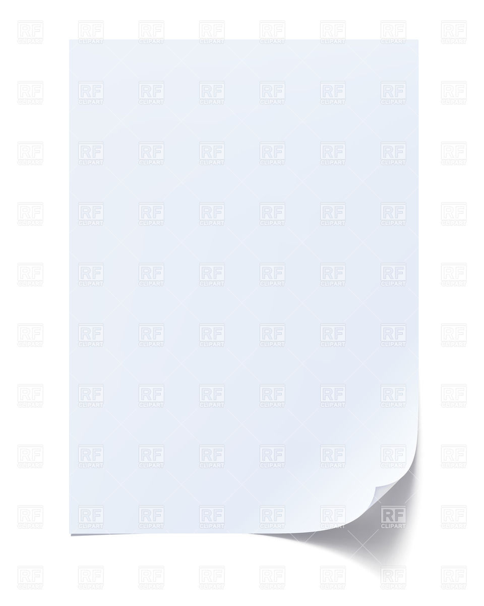 Blank sheet of paper Stock Vector Image.